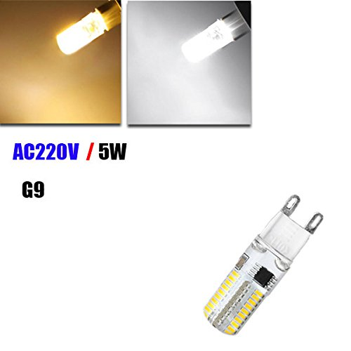 [Dimmable G9 5W White/Warm White 72 SMD3014 LED Corn Light Bulb AC 220V ( White )] (Adult Knight To Remember Costumes)