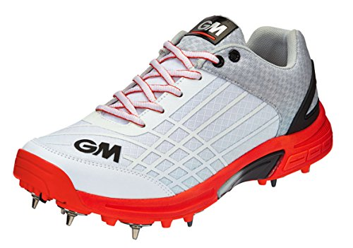 Gunn Kids' Multicolour White Original amp; Moore Spike Cricket Shoes White Unisex Orange Orange TW7Trxnp8