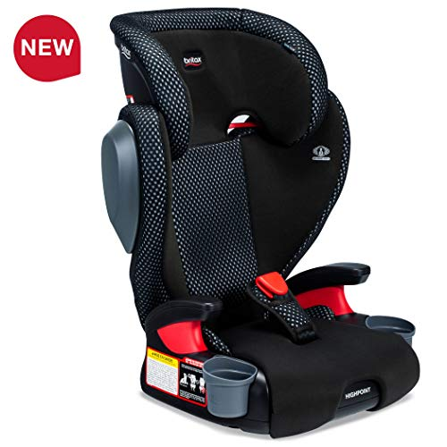 Britax USA Highpoint 2-Stage Belt-Positioning Booster Cool Flow Ventilating Fabric Car Seat – Highback and Backless – 3 Layer Impact Protection – 40 to 120 Pounds, Gray