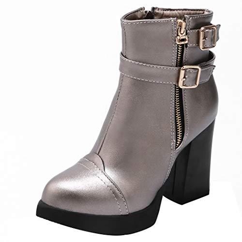 Mavirs Womens Macrea cm Block Heel Ankle-high 10 cm Macrea Boots B07GLL5C9R Shoes e034f4
