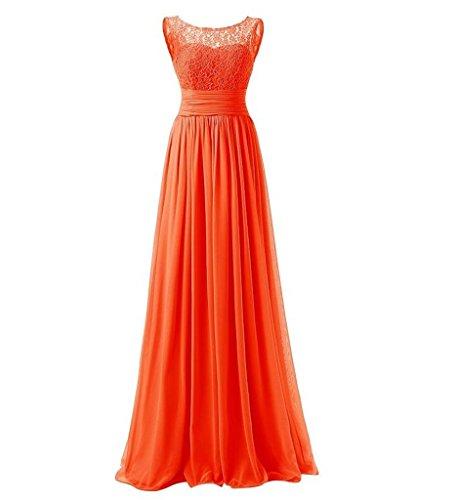 Brautjungfernkleider La Damen Abendkleider Kleider Kleider Festliche Orange Braut Elegant Jugendweihe Lang Marie 464HwOSU