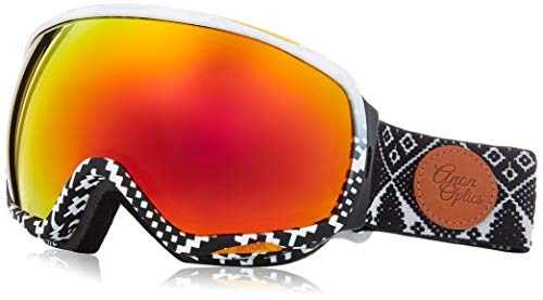 Anon Women's Tempest Goggle, Apres Faame Red Solex Lens (Burton Red Ski Helmet)