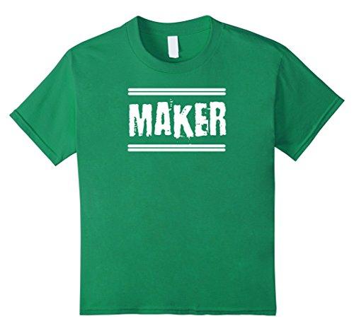 Kids STEM Maker and Hacker Space Inventor T-Shirt 10 Kelly Green (Hacker Gear)