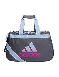 Adidas Diablo Small Duffel, Onix/Glow Blue/Shock Pink, One Size