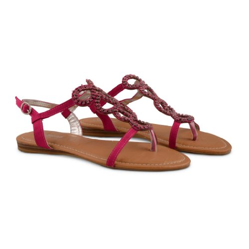 Footwear Sensation - Sandalias de vestir de sintético para mujer rosa - fucsia
