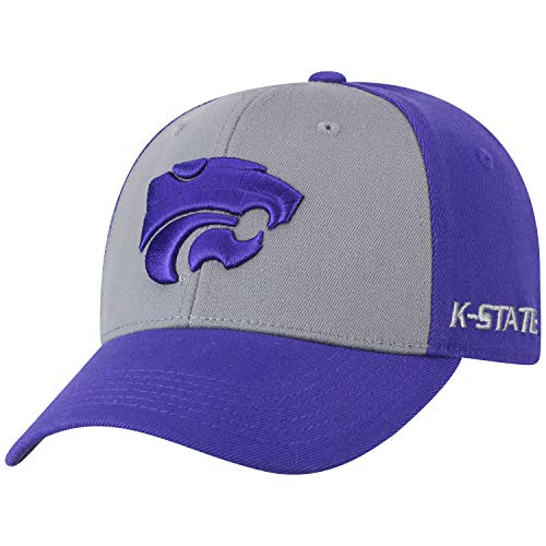 buy popular c12b2 c47d1 Top of the World NCAA-Premium Two Tone-One-Fit-Memory Fit-Hat Cap-Kansas  State Wildcats