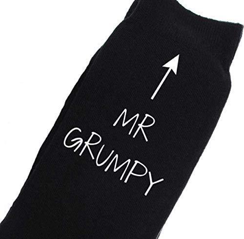 Grumpy Mr Black D Calf Hombres Calcetines w50qn