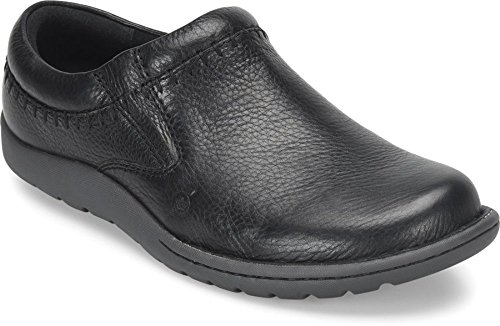 Born Mens - Nigel Clog In Pelle Pieno Fiore Nera