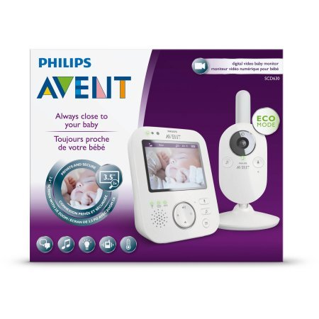Philips Avent SCD630/37 Video Baby Monitor with FHSS - Backu