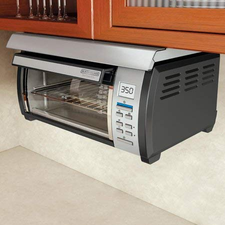 Energy efficient, Touch-button Control Panel Stainless and Spacemaker Toaster Oven, Black and Silver by BLACK+DECKER