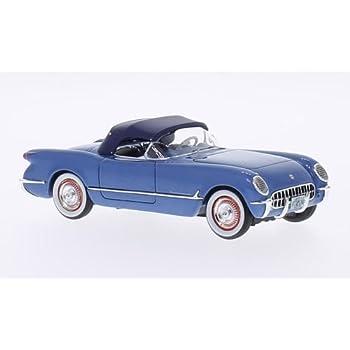 Amazon Chevrolet Corvette C1 Metallic Blue 1953 Model Car