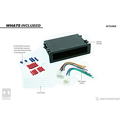 Install Centric ICTA1BN Toyota 1982-04 Pocket Complete Installation Kit: Car Electronics
