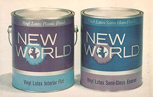(Carlstadt New Jersey New World Chemical Co Latex Paint Vintage Postcard K106412)