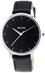 Nixon Black Dial Stainless Steel Leather Quartz Ladies Watch A108-392