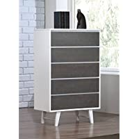 Madrid Light Charcoal 5 Drawer Chest