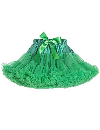 Baby Girls Tutu Skirt Princess Fluffy Soft Tulle Ballet Birthday Party Pettiskirt Green S]()