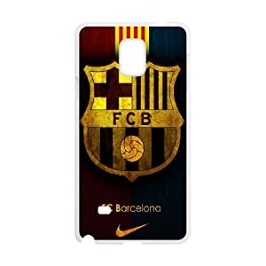 Samsung Galaxy Note 4 Cell Phone Case White FC Barcelona Team Logo L4U9LL