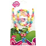 Official Licensed My Little Pony Necklace Bracelet & Ring Jewellery Set
