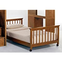 NE Kids School House Lower Stair Loft Bed in Pecan - Full