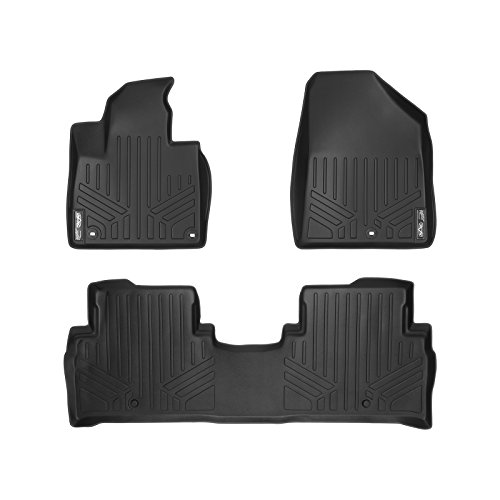 MAX LINER A0191/B0191 Custom Fit Floor Mats 2 Row Liner Set Black for 2016-2019 Kia Sorento - All Models