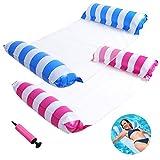 2-Pack Swimming Pool Float Water Hammock Inflatable