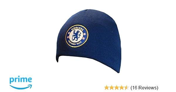 90ebc4158ef Amazon.com   Chelsea FC - Official Beanie   Winter Hat   Sports Fan Beanies    Sports   Outdoors