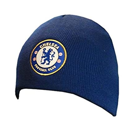 c6834dc012f Amazon.com   Chelsea FC - Official Beanie   Winter Hat   Sports Fan Beanies    Sports   Outdoors