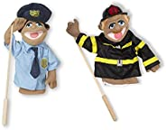 Melissa & Doug Puppet Bundle - Police Officer and Firefig