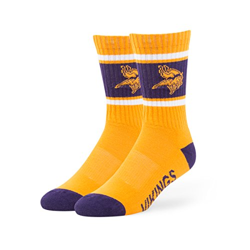 NFL Minnesota Vikings Men's '47 Duster Casual Dress Crew Socks, Gold, Large, (Minnesota Vikings Shorts)