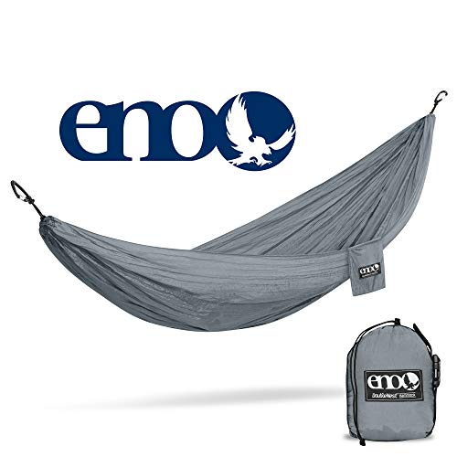 ENO - Eagles Nest Outfitters DoubleNest Lightweight Camping Hammock, 1 to 2 Person, Special Edition Colors, Grey (Things To Make With One Yard Of Fabric)