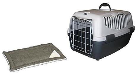 Caja de transporte Gulliver 3 lll con cojín Perros Box Gatos caja de transporte perros y