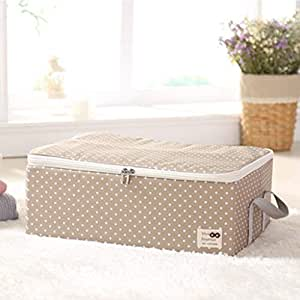 PPCP Cloth Dustproof Storage Box Folding Storage Box (Color : Beige)
