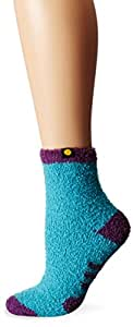 Life is good Women's Lightweight Snuggle More Crew Sock (Teal Blue), One Size