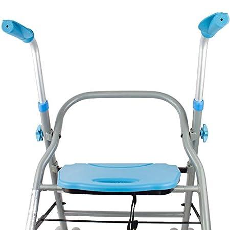 Mobiclinic, Modelo Future, Andador para mayores, adultos, ancianos o minusválidos, de acero y aluminio, ligero, plegable, con asiento y ruedas, Color ...