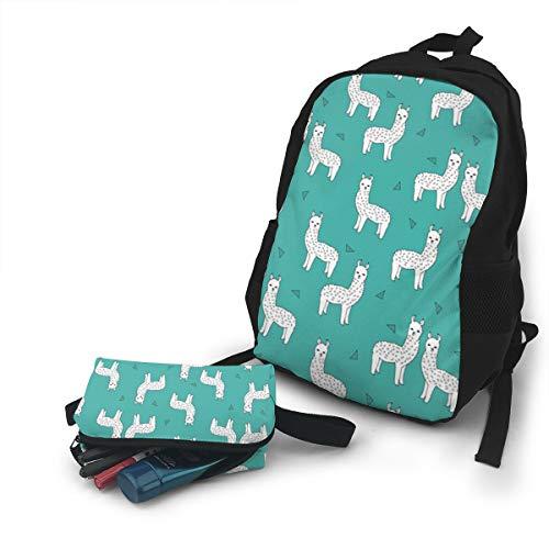 Jiqnajn6 Alpacas Llamas Baby Nursery Cute Design Laptop Backpack,Travel Computer Bag for Women & Men,Anti Theft Resistant College School Bookbag,Business Backpack. -