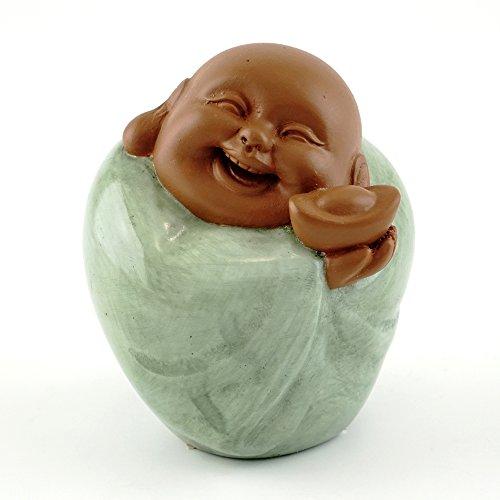 3-inch Happy Buddha with Golden Nugget Figurine