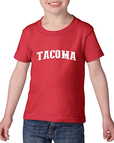 Mom`s Favorite Washington State Flag City of Tacoma Traveler`s Gift Toddler Heavy Cotton Kids Tee (5TR) -