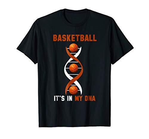 Mens Its In My DNA Fingerprints Basketball Game Gift T-shirt Large Black