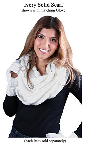 S1-6100-25 Funky Junque Infinity Scarf - Ivory (Solid) by Funky Junque (Image #4)