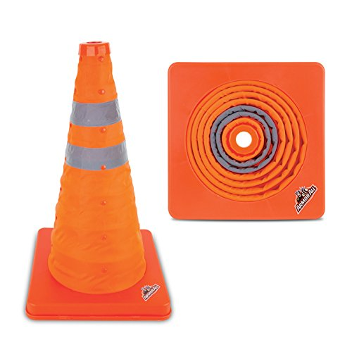 Armor All 16'' Traffic Safety Cone - Collapsible Pop Up – Reflective, Orange, Multipurpose by Armor All