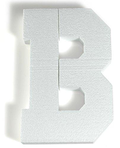 White Styrofoam Letter B, Decorating Supplies ()