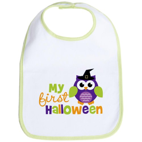 CafePress - My First Halloween Owl Bib - Cute Cloth Baby Bib, Toddler Bib