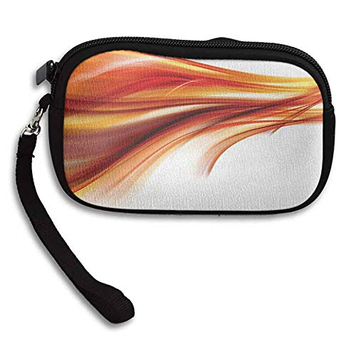 Abstract Small Wallet Ladies Modern Contemporary Abstract Smooth Lines Blurred Smock Art Flowing Rays Print W 5.9