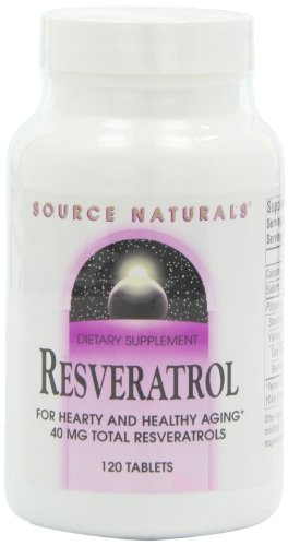 Source Naturals Resveratrol 40mg, 120 Classic Tablets (Best Source Of Resveratrol)