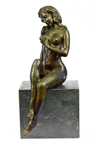 …Handmade…European Bronze Sculpture Large Original Aldo Vitaleh Sexy Nude Female Marble Base (XNCH-556) Bronze Sculpture Statues Figurine Nude Off…
