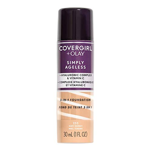 Covergirl & Olay Simply Ageless 3-in-1 Liquid Foundation, Soft Honey