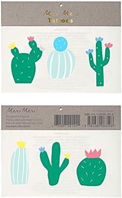 Meri Meri Cactus - Tatuajes temporales: Amazon.es: Hogar