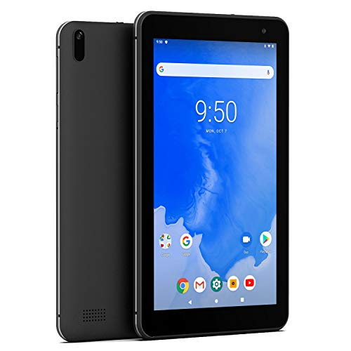 Winnovo T7 7 Inch Tablet Android 9.0 Pie, 2GB RAM, 16GB Storage, 5G WiFi, HD IPS Display, Bluetooth 4.0, Metal Middle Frame Rubber Back Shell (Black)