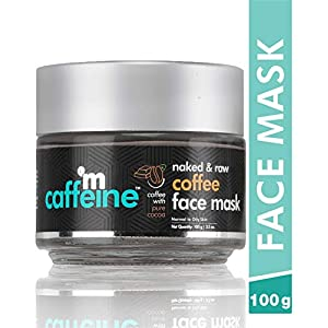 mCaffeine Naked & Raw Coffee Face Mask/Pack | Cocoa, Vitamin E | Tan Removal | Oily/Normal Skin | Paraben & Mineral Oil…