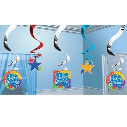 "UPC 048419699415, Amscan Fun-Filled Retirement ""Happy Retirement"" Hanging Swirls Decoration (5 Piece), Multi Color, 15 x 7.5"""